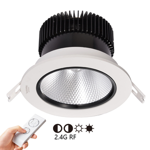 2018 NEW design 2.4G rgb wireless control CCT dali dimmable led downlight 100mm diameter with 60mm cut out 40w 50w spotlight
