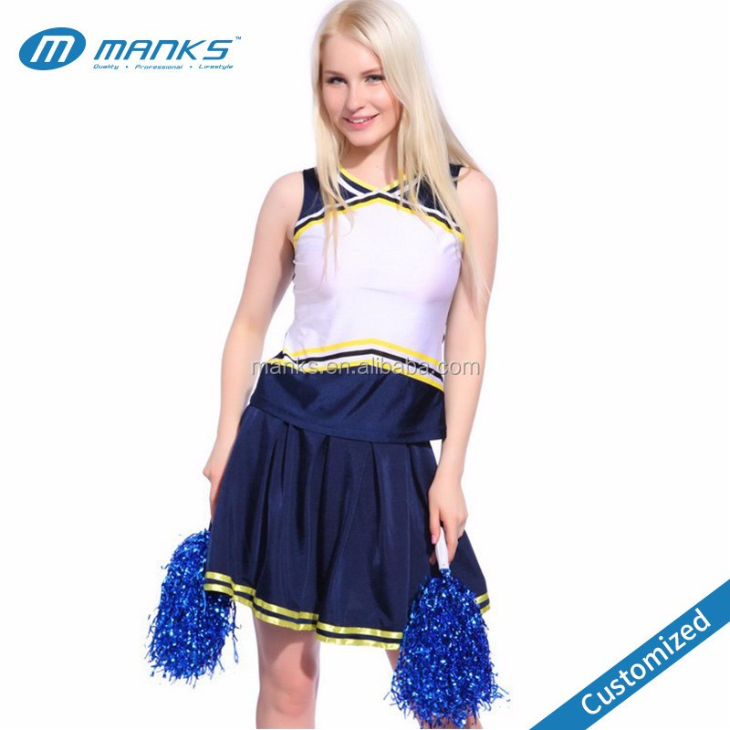 Custom Made Cheap 100% Polyester Full Sublimation Cheer Leading Uniforms