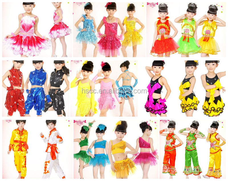 Wholesale High Quality Western Style Latin Dance Dress For Kids ...