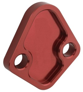 CNC milling stainless 304/Aluminum5052/304LN red anodize/electrophoresis Windsor Fuel pump Block Off Plate/panel/bracket