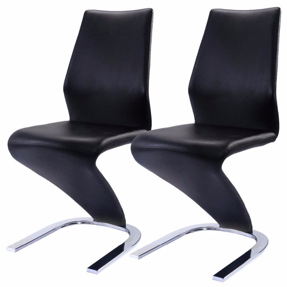 Modern Black Leather Z Shape Dining Chair Product On Alibaba