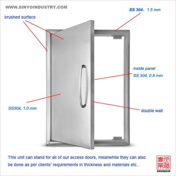 Outdoor BBQ stainless steel cabinet doors