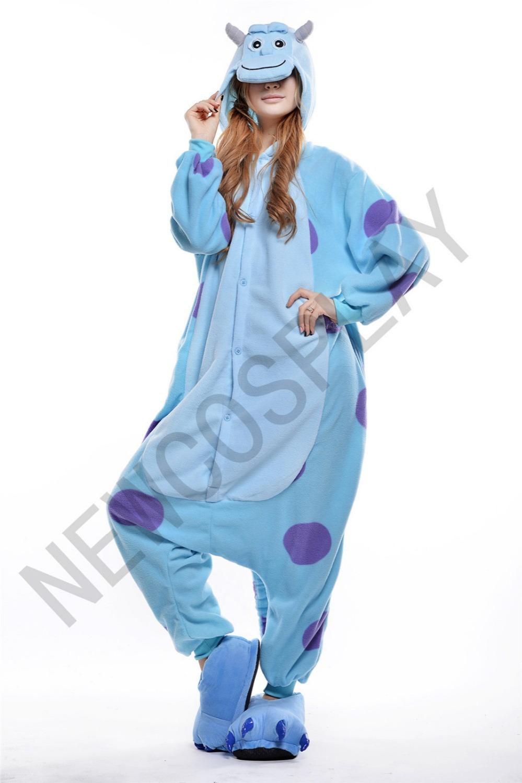 fa4dde480a Get Quotations · monster Sulley Sullivan adult onesies Pyjamas Cartoon  animal costume Pajamas Unisex pijamas