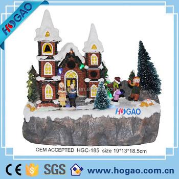 Miniature Christmas Ornaments.Resin Hand Painted Miniature Christmas Figurines With Mini Village House And Chrildren Buy Christmas House Christmas Ornaments Christmas Decorations