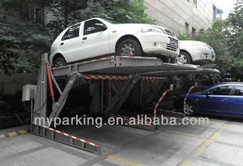 Two Level Two Post Tilt Garage Storage Parking Lifter Car Parking Lift