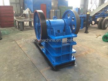 2016 Huahong small disel engine stone jaw crusher parts specifications for sale low price