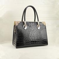China manufacturers fashionable black high quality luxury branded handbag Guangzhou supplier