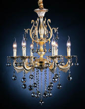 Decorative zinc alloy lighting plastic crystal chandeliers
