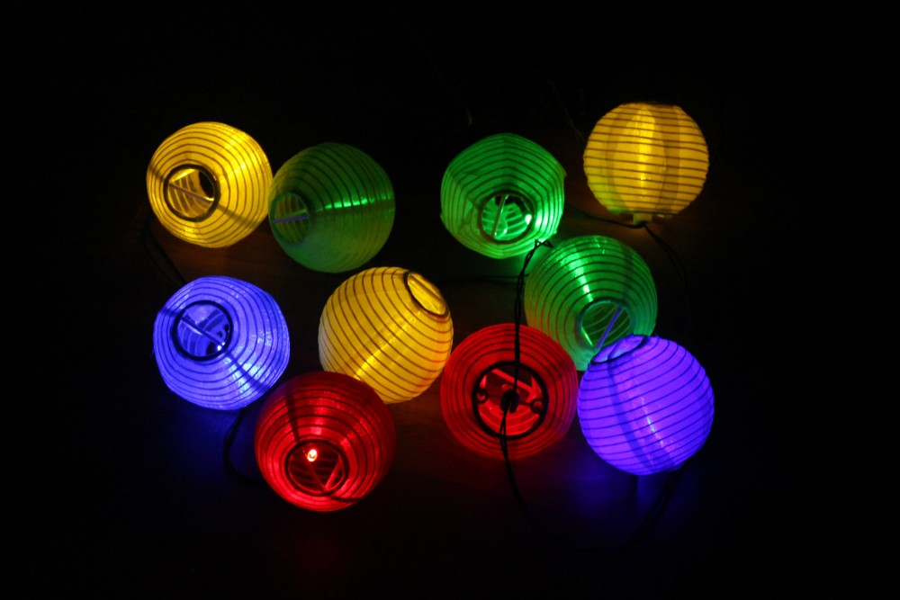 Led Light Mini Chinese Paper Lantern Flashing String Unique Wireless Outdoor Chasing Lights