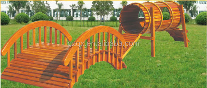 Solid Wood Kid Playground Games Garden Play Equipment For