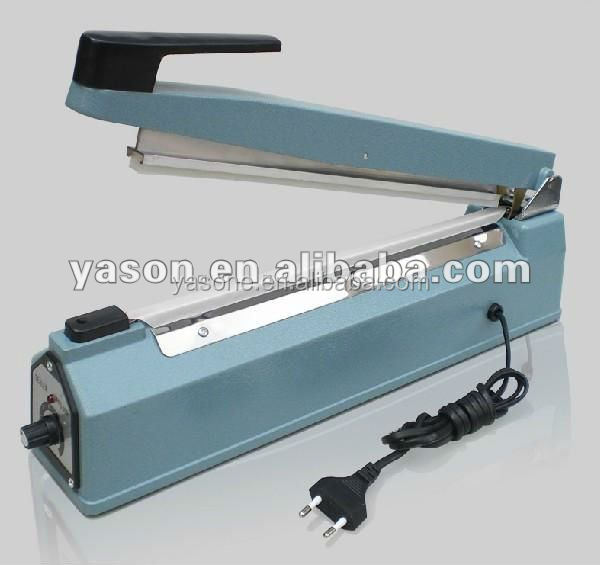Aluminum body poly bag hand sealing machine with side cutter