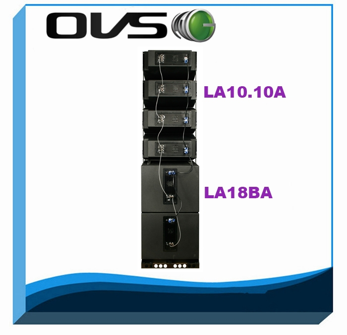 Dual 10inch 600W RMS 8ohm neodymium driver active line array speaker for sound system
