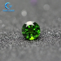 Ronud shape natural green gemstone natural green diopside
