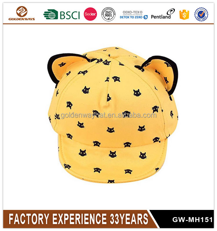 New Style Baby kids Boys Girls Cat Ears Baseball Cap
