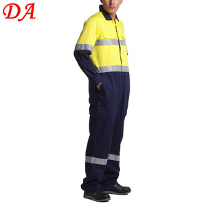 summer thin cotton offshore coverall with reflective tape