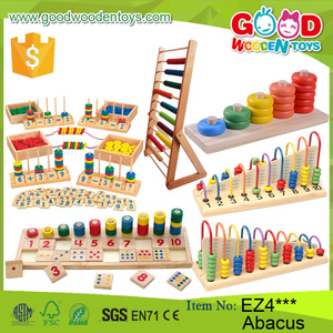 New Multifunction Children Wooden Abacus Frame Educational Beads Toys Early Education Kids Soroban Abacus