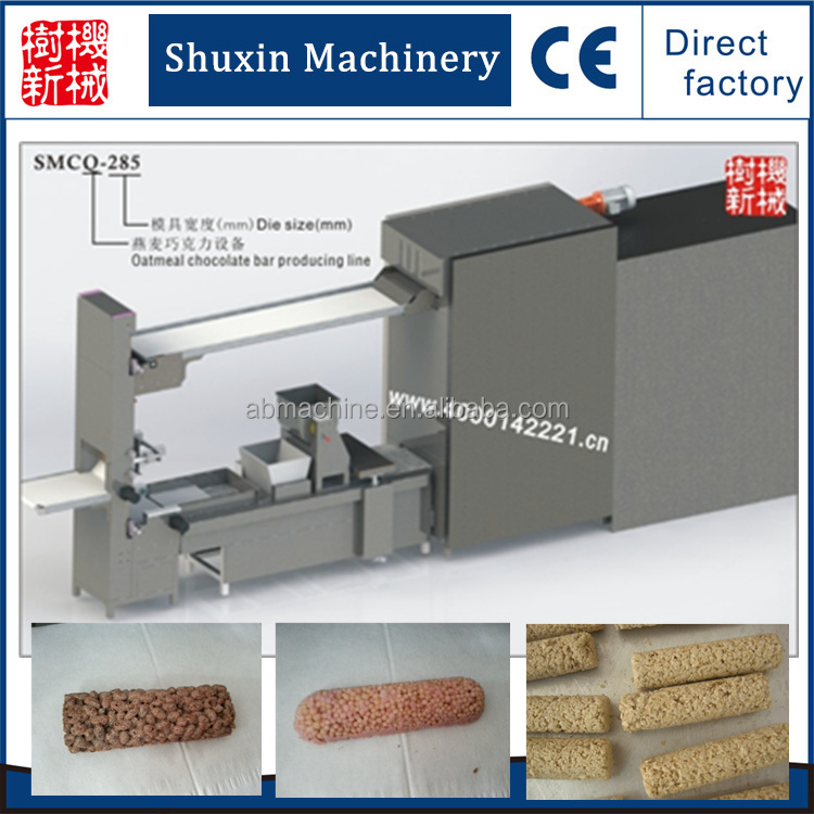 chocolate oatmeal candy bar making machine production line for energy bar