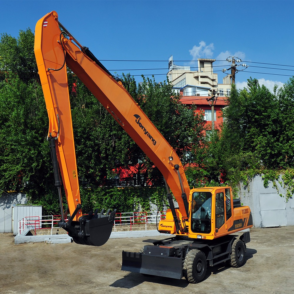 China JYL621ELD used middle wheeled hydraulic excavator