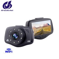 Hot sell new design 25MM big lens1080p dashcam with WiFi strong IR night vision
