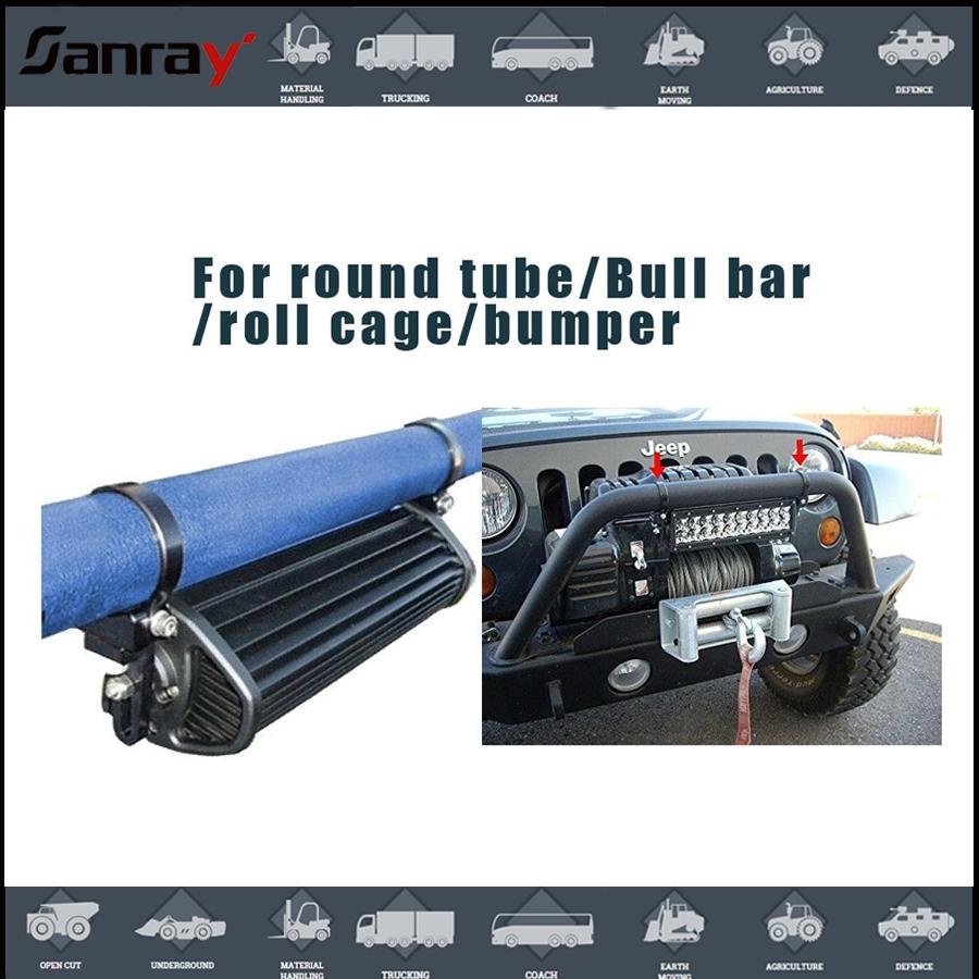 Suv Car Truck Off Road Suv Led Light Bar Bull Bumper Clamps ...