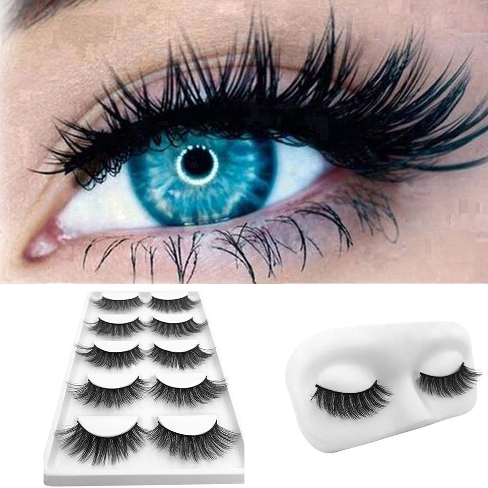 Euone  Christmas Clearance , 5Pair Luxury 3D False Lashes Fluffy Strip Eyelashes Long Natural Party Lashes
