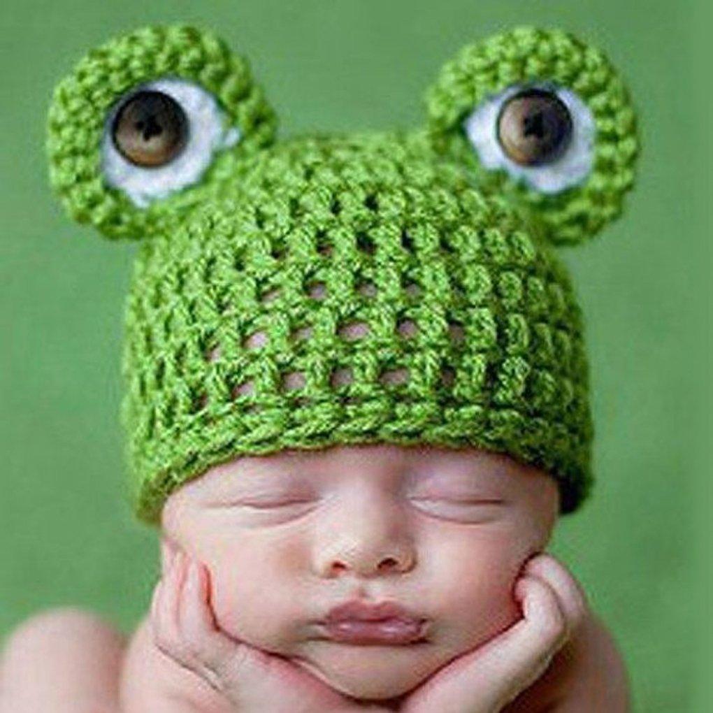 Get Quotations · MuLuo Cute Frog Newborn Crochet Outfits Warm Set Cap Boy Cap  Girl Hat Baby Cap Baby 6cb74c46de56