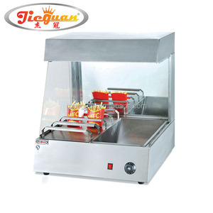 hot french fries food display warmer truck China manufacturer VF-8