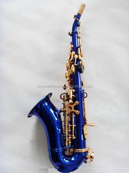 Blue Soprano Saxophone Bb Key Colored Saxophones Curved Style - Buy Blue  Soprano Saxophone Product on Alibaba com