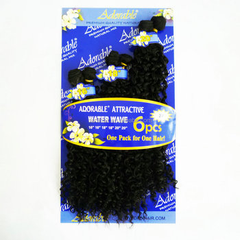 Wholesale adorable top quality afro jerry curl water wave 6pcs wholesale adorable top quality afro jerry curl water wave 6pcs artifical synthetic fiber hair extensions for pmusecretfo Choice Image