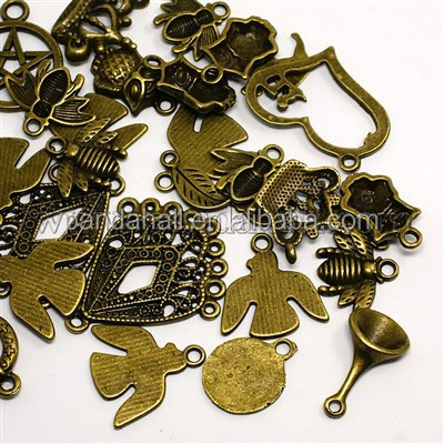 100g/bag Mixed Shape Nickel Free Tibetan Style Alloy Bracelet <strong>Charms</strong>