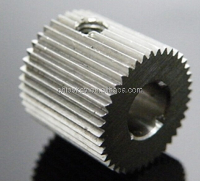 Outside diameter:12mm <strong>Hole</strong>:8mm 40 Tooth MK7/MK8 Stainless steel Wire Feed Gear for 3D Printer / Extruder