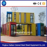 Durable portable house/40 foot container price/pre-made container house
