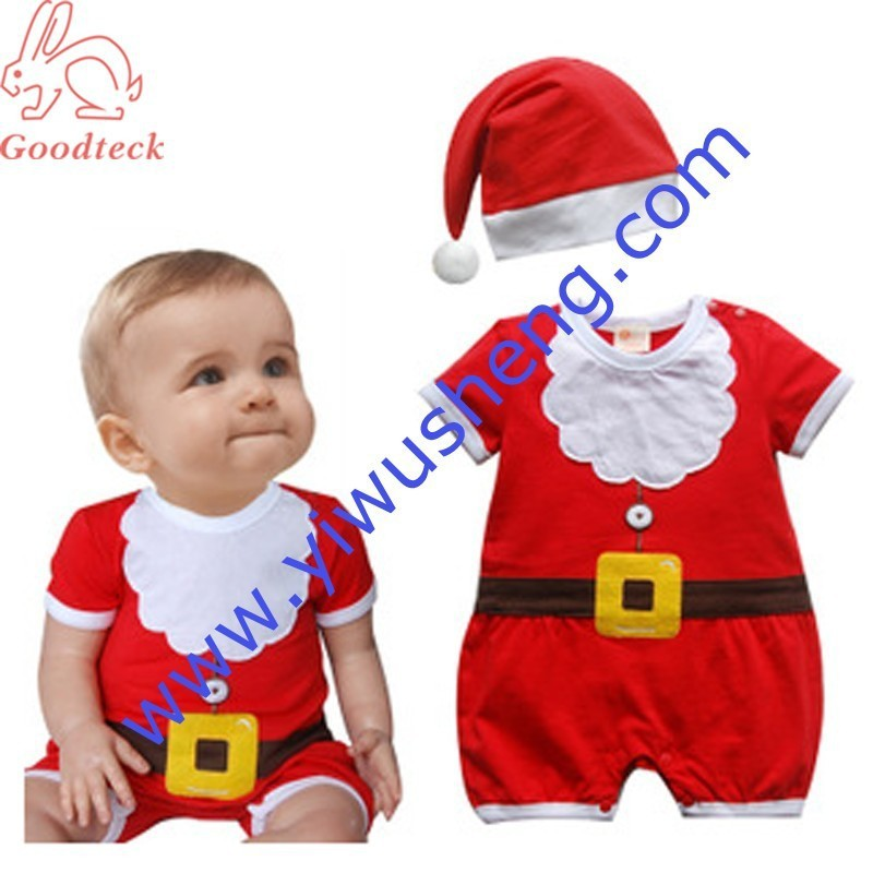 c88cf2229 Christmas Xmas Baby Boy Girl Kids Fancy Dress Costume Santa Claus Clothes