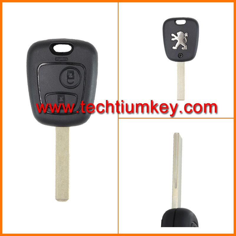 Techtium 2 button remote control <strong>key</strong> for Peugeot 307,407 remote control with 433Mhz ID46 chip