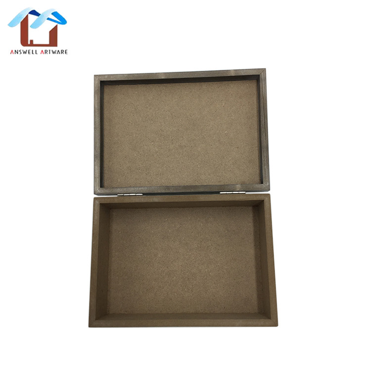 Hot sale mini custom size mdf home ornament desktop organizer wooden storage bin box