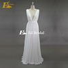 Real Product Simple Cap Sleeve Open Back V-neck Lace Appliques Wedding Dress