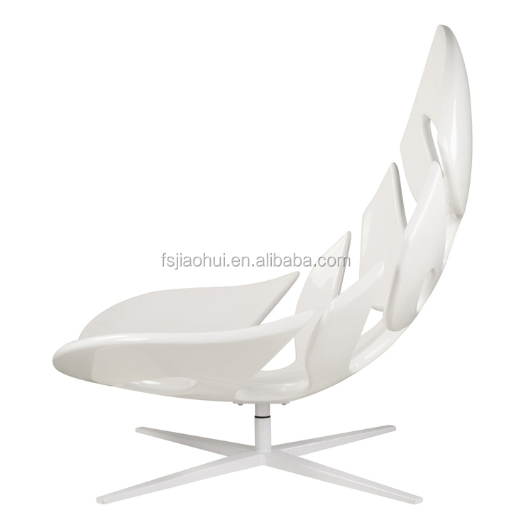 Living Room Leisure Style fiberglass Swivel Fishbone Lounge Chair
