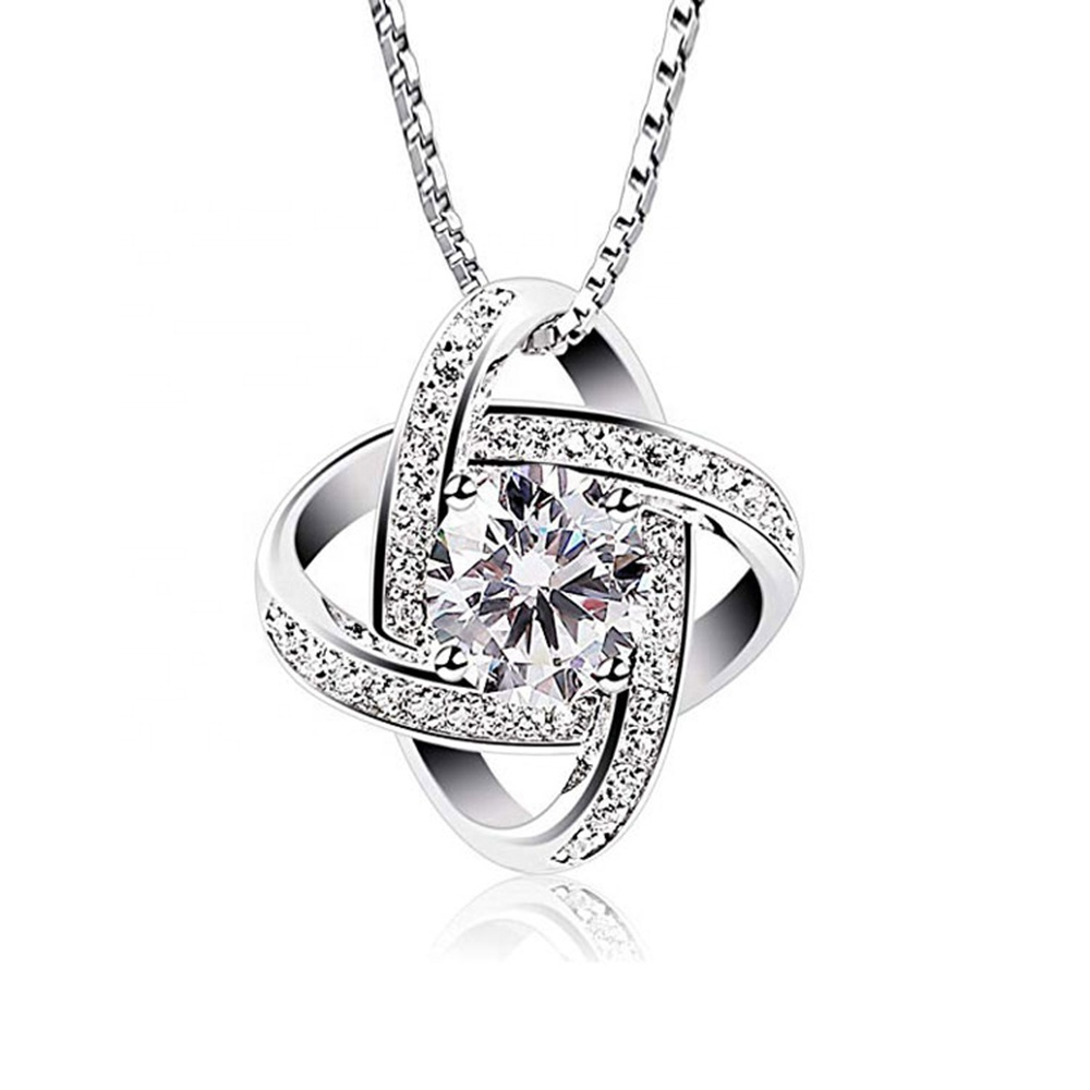 Peishang collana 기 Hals Women 925 Sterling Silver Cubic 지르코니아 Classic 펜 던 트 Necklace
