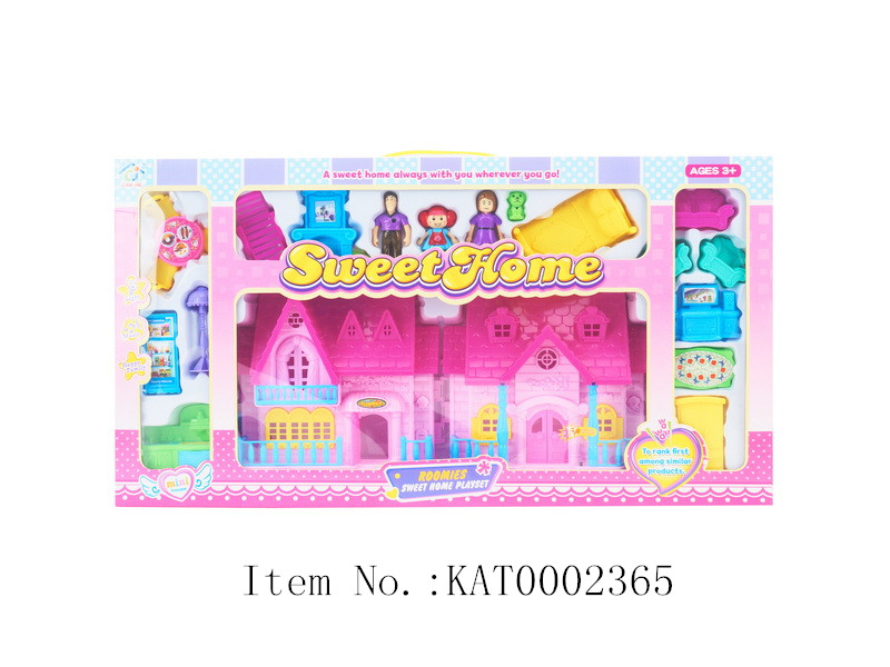 High Quality And Hot Sale Kids DIY Plastic Villa Mini Toy House With Furniture
