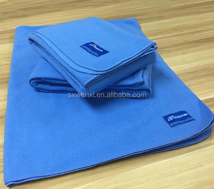 Plain Style Flame Retardant Airline Fleece Blanket for tourist class