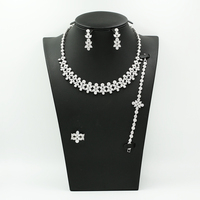 latest luxury style american diamond necklace 18k gold plated