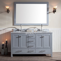 Boma bathroom vanity 60 inch witn double sink and counter top