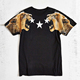 Golden lion stars 3d t shirt printing with short sleeves