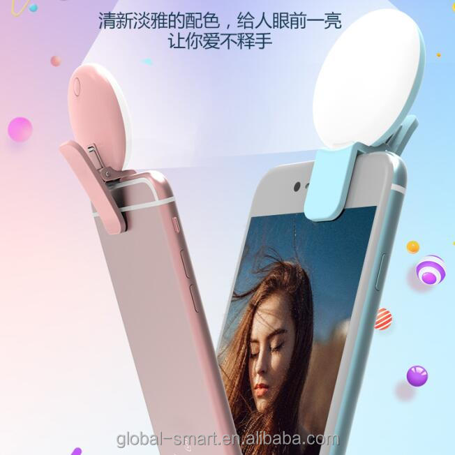 Universal Led Rechargeable Built-in Battery Portable Mini Mobile Phone Selfie Fill Light Adjustable Flash Light