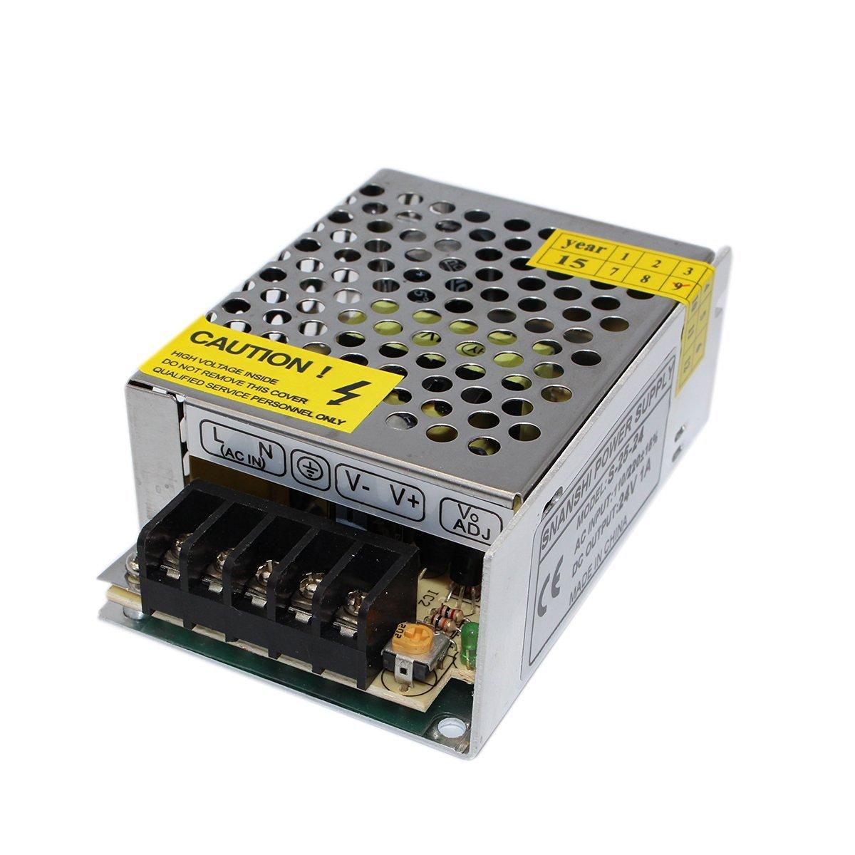 SNANSHI 24V 1A 25W LED Switching Power Supply Transformer 110V 220V AC to DC 24V output, for LED Strip Light for CCTV