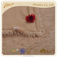 china 100% polyester home fashion faux fur blanket