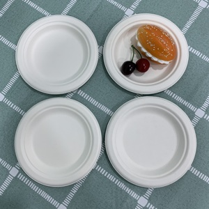 Factory price compostable bagasse pulp eco biodegradable take out dinner food plate