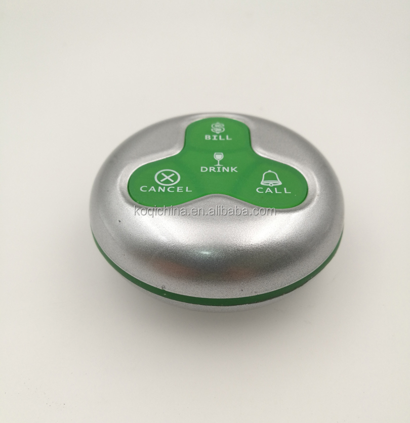 Ycall 4 buttons Guest wireless calling transmitters for restaurants