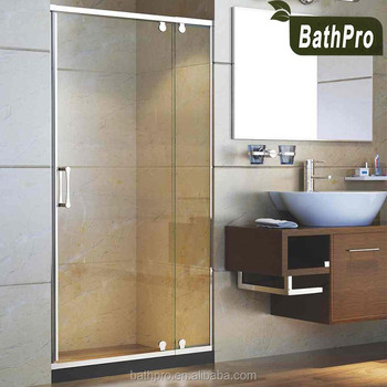 Simple Design Tempered Glass Door And Glass Partition Glass Shower Screen  With Sliding Doors For Bathroom