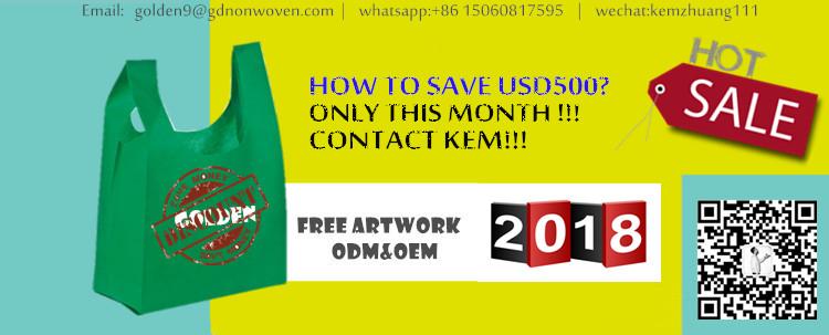 White Hdpe Custom Heat Sealing T Shirt Bags,26Gsm W Cut Non Woven Bag,T-Shirt Packaging Bags